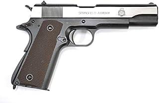 BELL M1911A1 SPRINGFIELD ARMORY刻印 ガバメント ブローバック ガスガン シルバー No.723L 樹脂フレーム