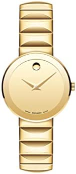 Movado Sapphire Yellow gold-plated Mirror Dial Ladies Watch