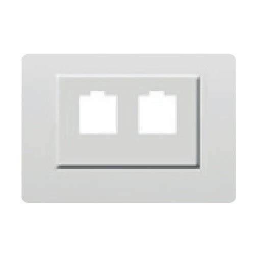 Bjc coral - Tapa para adaptador doble rj11-rj45 serie coral blanco