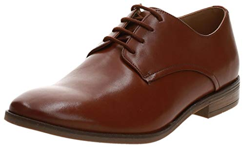 Clarks Stanford Walk, Zapatos de Cordones Derby, Marrón (Tan Leather Tan Leather), 43 EU