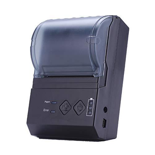 Excelvan 58mm stampante termica biglietto collegamento Bluetooth Thermal Dot portatile stampante a ricevuto ricaricabile per os Android IOS e Windows–Nero
