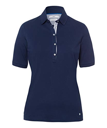BRAX Style Cleo Finest Pique Stretch Polo, Indaco, 50 Donna