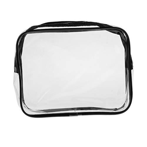 Hellery Transparent Taschen, wasserdichte PVC Kosmetiktaschen, Reise Organizer, Damen Handtasche mit Reissverschluss - Klein