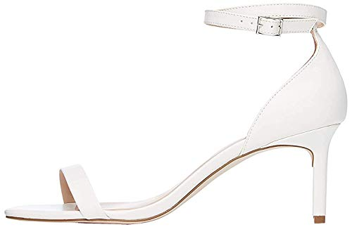 Amazon-Marke: find. Damen Pumps mit Knöchelriemen, Weiß (White), 37 EU