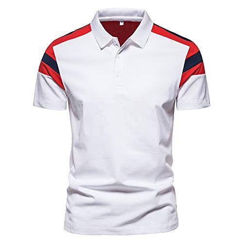 Manga Corta Hombre Botón Placket Rayas Hombre Casuales Camisa Tendencia T-Shirt Verano Ajuste Regular Negocios Casual Cómodo Wicking Polo Shirt L-L11 3XL