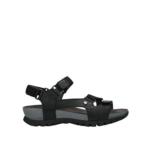Wolky Comfort Sandalen Cradle - 30000 schwarzes Leder - 43