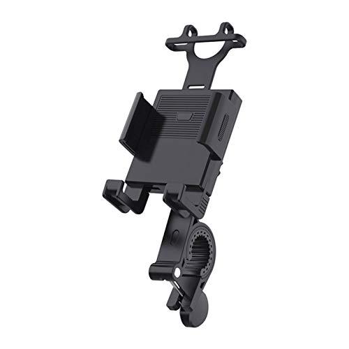 Soporte de teléfono para motocicleta con rotación de 360 °, soporte universal ajustable para teléfono de motocicleta o scooter, bloqueo automático aplicable a teléfonos móviles de 4.7 a 6.7 pulgadas