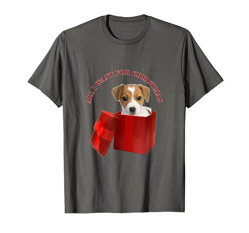 Todo lo que quiero para Navidad Russell Terrier Camiseta