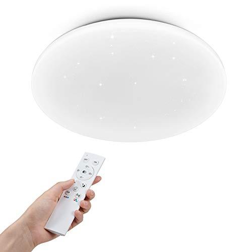 Anten Wizard | Plafoniera led soffitto 36W con telecomando e effetto starlight | bianco | Ø 40cm | dimmerabile e bianco caldo a luce diurna regolabile | RGB lampadario per cameretta soggiorno ufficio.