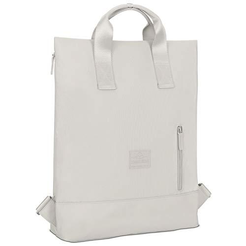 Rucksack Damen & Herren Grau - Johnny Urban IVY Backpack aus recycelten PET-Flaschen für Uni Büro Schule Freizeit & Business, Tasche Laptop 15 Zoll, Rucksäcke Wasserabweisend