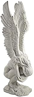 Design Toscano Remembrance and Redemption Angel Statue, Large, 30 Inch, Polyresin, Antique Stone