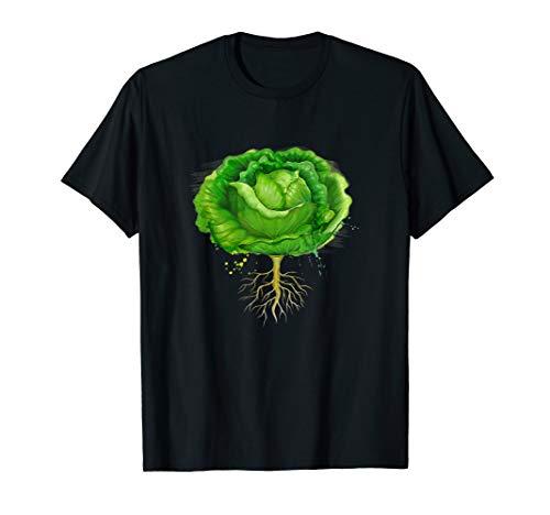 Fasching Karneval Kostüm Grüner Kopf-Salat Fastnacht Gemüse T-Shirt