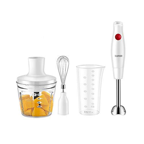 XLOO Batidora de Mano,se Puede Usar Cualquier Recipiente,Encendido con un Botón,Fácil de Limpiar,para Sopas,Salsas,Batidos,Puré de Alimentos para Bebés,Sin BPA,Negro