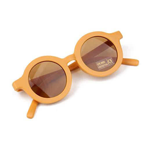 Y-POWER Verano Polarizado UV Proteger Niños Gafas De Sol Retro Redondo Kid Gafas De Sol Polarizadas UV 400 Protección Niños Gafas De Sol