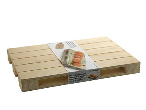 meindekoartikel Mini Holzpalette Untersetzer Präsentation- und Servierhilfe – Natur B30xT20xH3cm