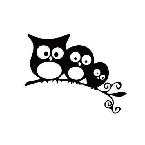 Csfssd Personalized car Stickers Animierte lustige Aufkleber Kleine Vogelzweige Autoaufkleber Geschnitzte Hohlkörperaufkleber (Color : Black)