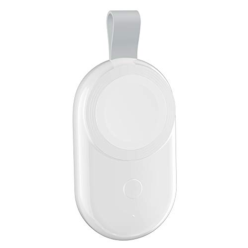 ADDFOO Cargador USB PortáTil para Watch Adaptador de EstacióN de Base de Carga RáPida Cargador InaláMbrico MagnéTico para Iwatch 654-Blanco