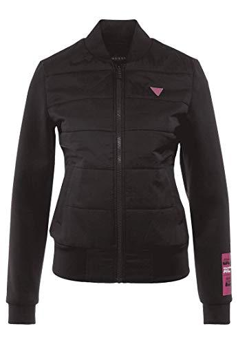 Guess Puffer Jacket O01A17WO04S - Chaqueta deportiva para mujer Negro S