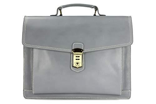 Belli 'Design Bag D XXL ital. Leder Handtasche Business Bag dunkelbraun - 40x30x12 cm (B x...