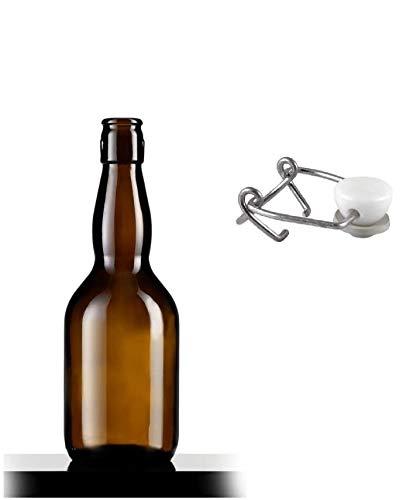 BOTTIGLIERI CASALINGHI Bottiglia Birra Special Pub Adatta per la Conservazione della Birra, Confezione 20 Pezzi con tappi meccanici Per Alimenti Inclusi.