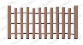 Beach Fence Steel Die for Scrapbooking (DIE179J)