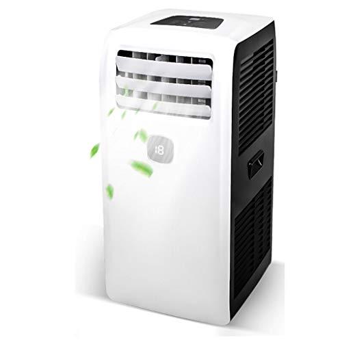 Jcoco Draagbare airconditioning, 9000 BTU, ventilator en luchtontvochtiger, 4-in-1 koeling/ventilator/verwarming/luchtontvochtiging met afstandsbediening, met afvoerslang, verstuiving vereist geen drainage