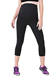 5e90b7ec5776fc 2 Ingrid and Isabel Maternity Yoga Pants. Features; Great for back and tummy  support ...