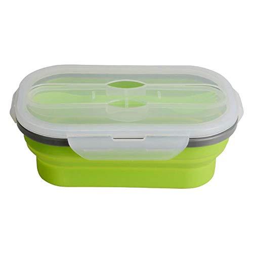 Boîte à bento de grande capacité à une seule couche de capacité de 950mL à micro-ondes pour les récipients de nourriture chauffée (Couleur : Vert)