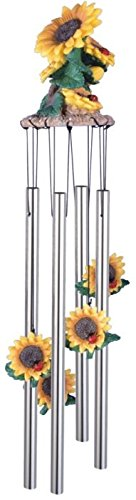 Sunflower Wind Chime Garden Decor