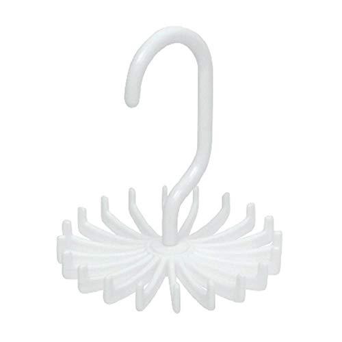 Yener 360 graden creatief multifunctioneel stropdasrek Draaibaar stropdashanger voorheren Stropdassen Sjaal Riem Sieraden Cap Opslagorganisator, wit