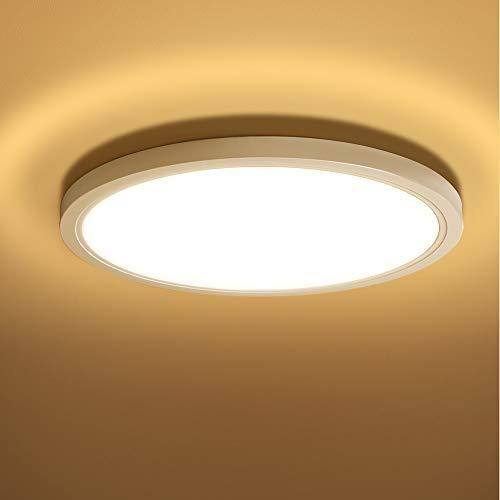 20W LED Lámpara de Techo Moderna, bapro Plafón Luz de Techo LED, 850LM 3000K Blanco Cálido Plafon Techo Led Cocina Luz para Baño Dormitorio Cocina Sala de Estar[Clase de eficiencia energética A++]