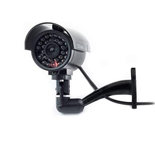 Cámara Seguridad Falsa Interior Exterior Calidad CCTV Cámara de Vigilancia con Intermitente Luz LED Noche x 1