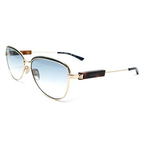 Calvin Klein Damen Ck18113s Sonnenbrille, Gold/Teal, Standard