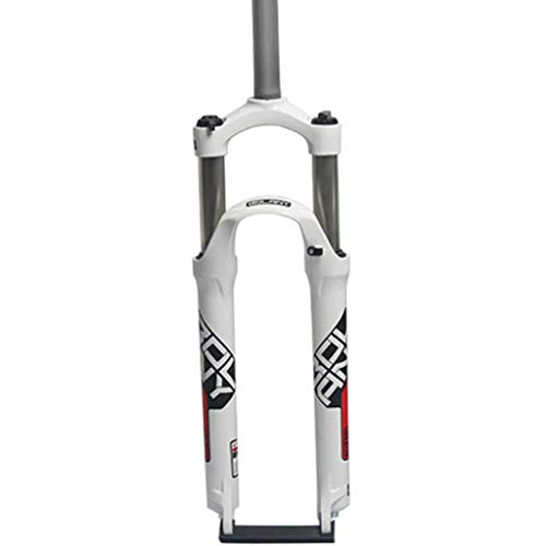 LCRAKON 26/27.5/29 Pulgadas Horquilla Suspensión Bicicleta Montaña, MJH-B03 Horquillas de Delantera de Suspensión de MTB de Ultraligera con Ajuste de Rebote - Tubo Recto 28.6 mm Recorrido 100 mm
