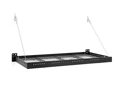NewAge Products Inc. Pro Series Black 2'. x 4'. Wall Mounted Steel Shelf, Garage Overheads, 40404