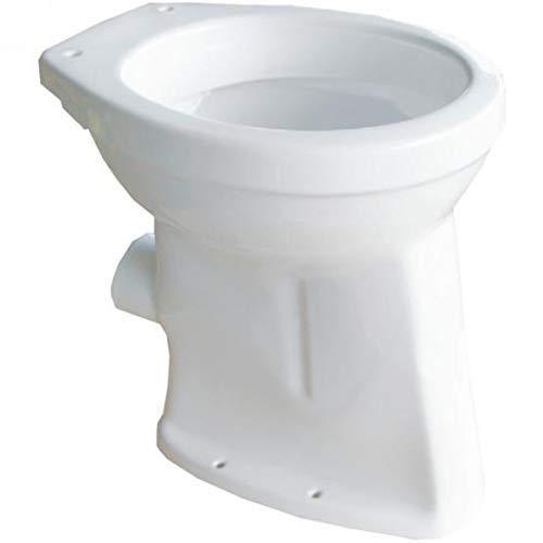 Stand WC ERHÖHT 50 CM Abgang waagerecht Toilette Flachspüler + Befestigung
