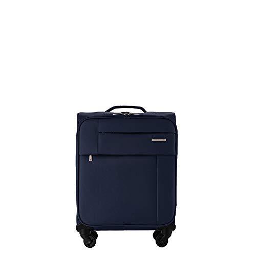 PACO MARTINEZ |Maleta de Cabina semirrígida Royal con Bolsillo Frontal 4 Ruedas| Equipaje de Mano Color Azul Marino|Capacidad máxima autorizada para Volar sin facturar.