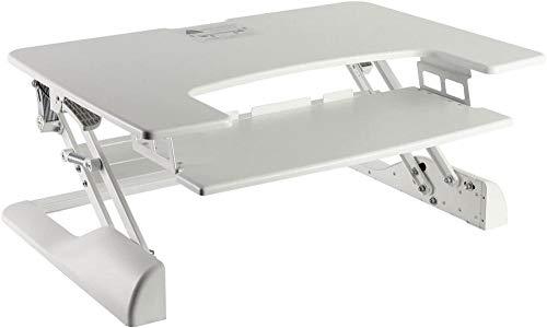 ReWD - Soporte para ordenador de mesa (altura regulable, para escritorio), color blanco