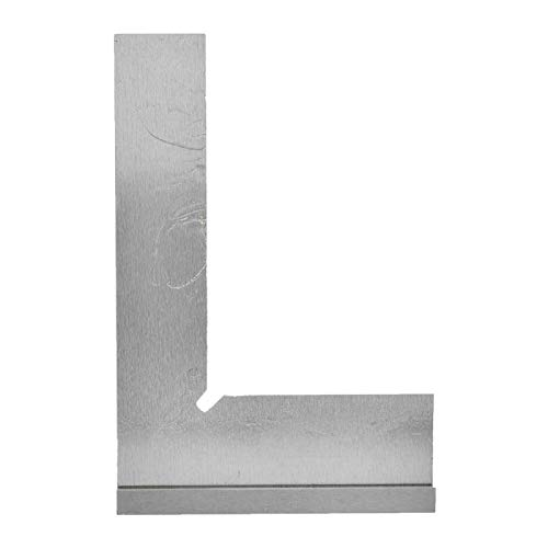 Ręczne narzędzie pomiarowe ze stalową kwadratową linijką kątową do wykrywania kątów dla znaków podziału do prac pomiarowych(200x130mm)