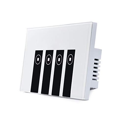 WT-DDJJK Schalterzubehör, WLAN-Lichtschalter, Timing-Sprachsteuerung, Smartphone-App-Fernbedienung, Touch-Platte, weiß + schwarz