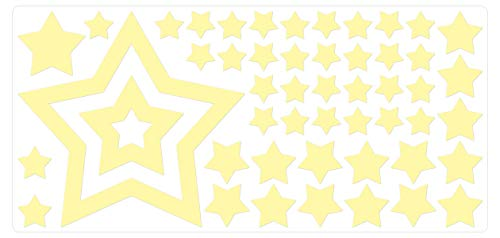 dekodino Wandtattoo Leuchtfolie Sterne