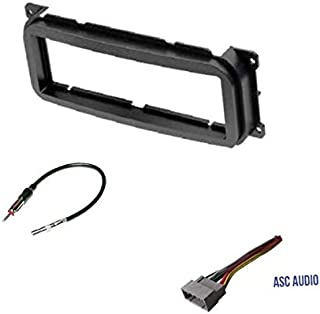 Car Stereo Dash Kit, Wire Harness, Antenna Adapter for Installing a Single Din Radio for some 2002 - 2004 Jeep Grand Cherokee, 2002 - 2007 Jeep Liberty, 2003 - 2006 Jeep Wrangler