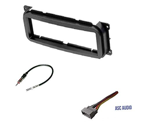 Car Stereo Dash Kit, Wire Harness, Antenna Adapter for Installing a Single Din Radio for Some 2002-2004 Jeep Grand Cherokee, 2002-2007 Jeep Liberty, 2003-2006 Jeep Wrangler