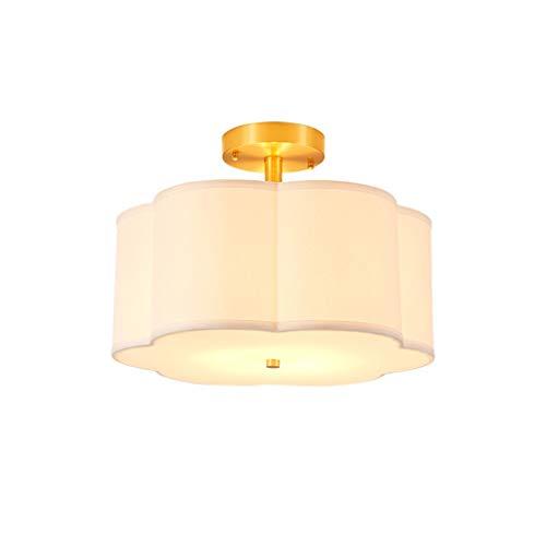 zlw-shop Ceiling Light Candelabro Luz de Techo de Cobre Completa Dormitorio Simple Luz del vestíbulo Vestíbulo Luz Lámpara Techo