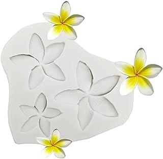 Plumeria Flower Silicone Mold, Frangipani Fondant Molds for DIY Chocolate Candy Pudding Gum Paste Cupcake Cake Topper Deco...