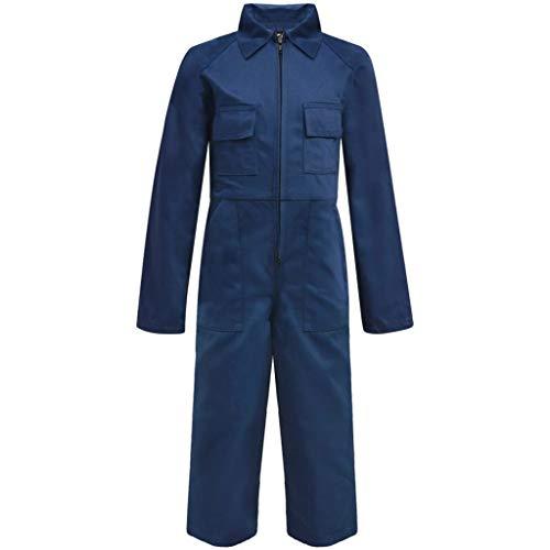 vidaXL Mono Infantil Niños con Bolsillos/Cremalleras Tallas 98/104 Color Azul