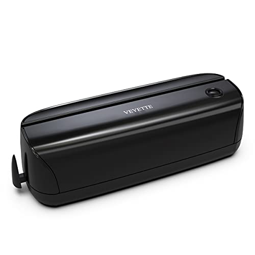 Electric 3 Hole Paper Punch, VEYETTE Paper Puncher with Adapter for Office School Studio, 20 Sheet Capacity, AC or Battery Black
