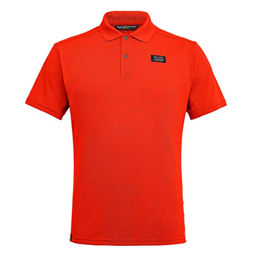 Salewa M DRI-Release S/S Polo Orange, Herren Polo Shirt, Größe 3XL - Farbe Dawn
