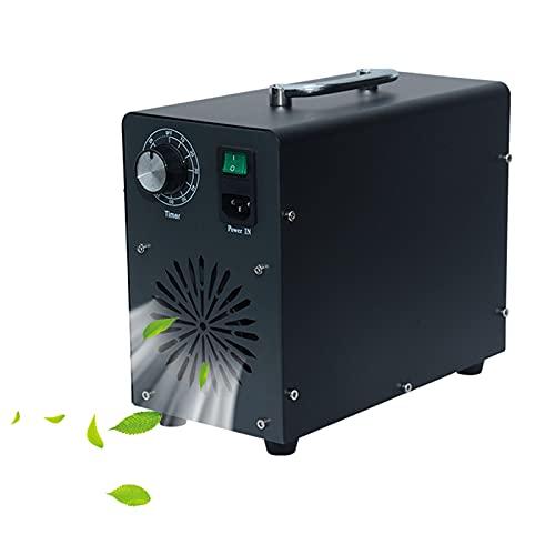 RDJSHOP Generador de Ozono Comercial con Temporizador de 90 Min Ozonizador Esterilizador Desodorizante Negro para Habitaciones Grandes, Hoteles, Sótanos,10000mg/h
