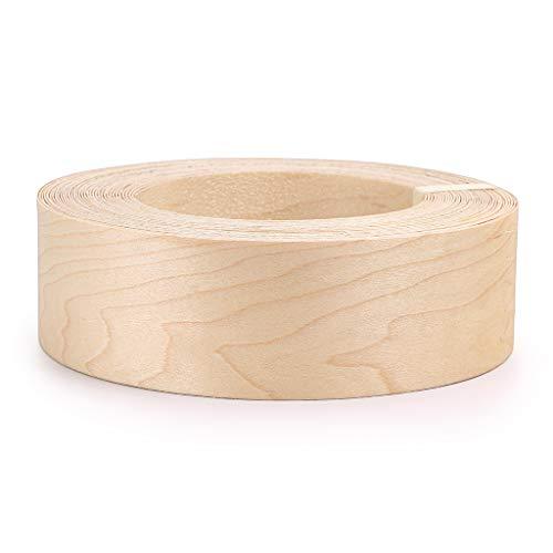 Skelang Maple 2 X 50 Roll Wood Veneer Edge Banding Preglued Iron-On with Hot Melt Adhesive Edgebanding Flexible Wood Tape